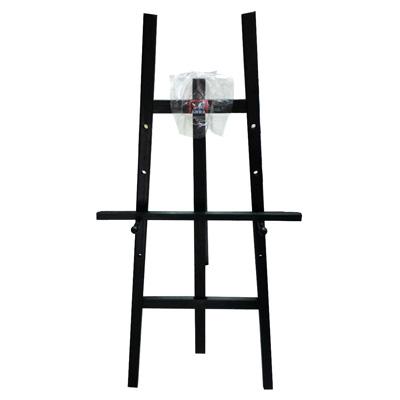 【文具通】高級 4尺約120cm 黑色 原木室內畫架 不含畫板需另購 每組皆附插銷可調整畫板高低 L3010518