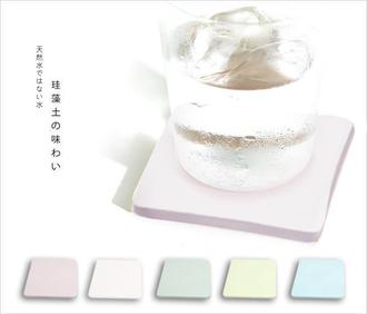 0901-0912信用卡獨家優惠-珪藻土超吸水方型肥皂盒/杯墊-10x10「趣生活」