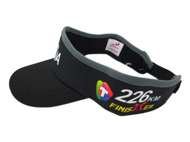 HEADSWEATS 汗淂 運動帽-台東普悠瑪鐵人三項226K完賽 FINISHER紀念中空帽(全黑)