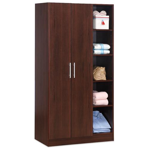 《Hopma》胡桃木色二門五格衣櫥