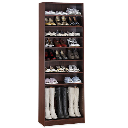 《Hopma》新胡桃木色十層鞋櫃