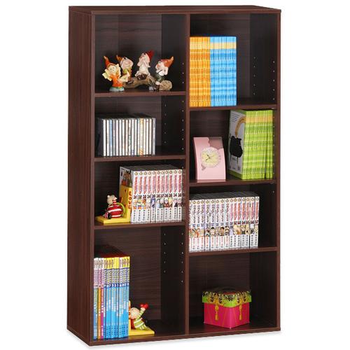 《Hopma》胡桃木色八格書櫃/收納櫃
