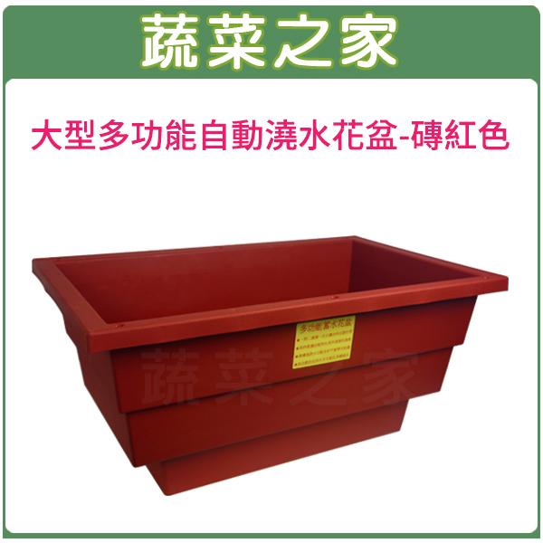 【蔬菜之家005-AP68-RE】大型多功能自動澆水花盆(含內襯)磚紅色