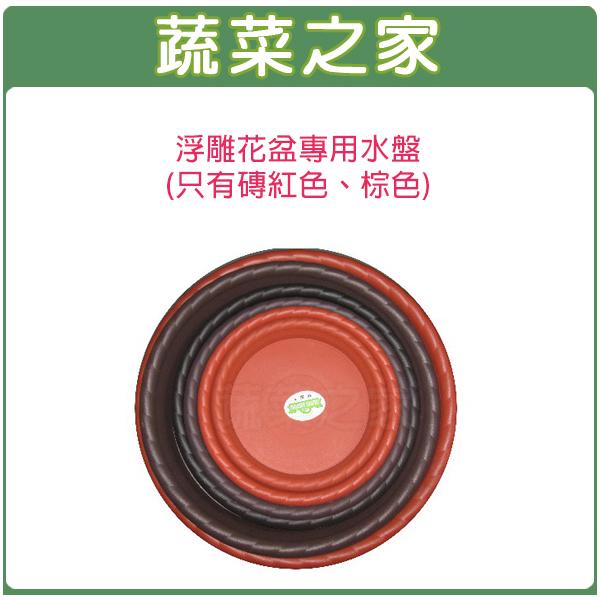 【蔬菜之家015-E32】中興1尺2浮雕花盆專用水盤(只有磚紅色、棕色)