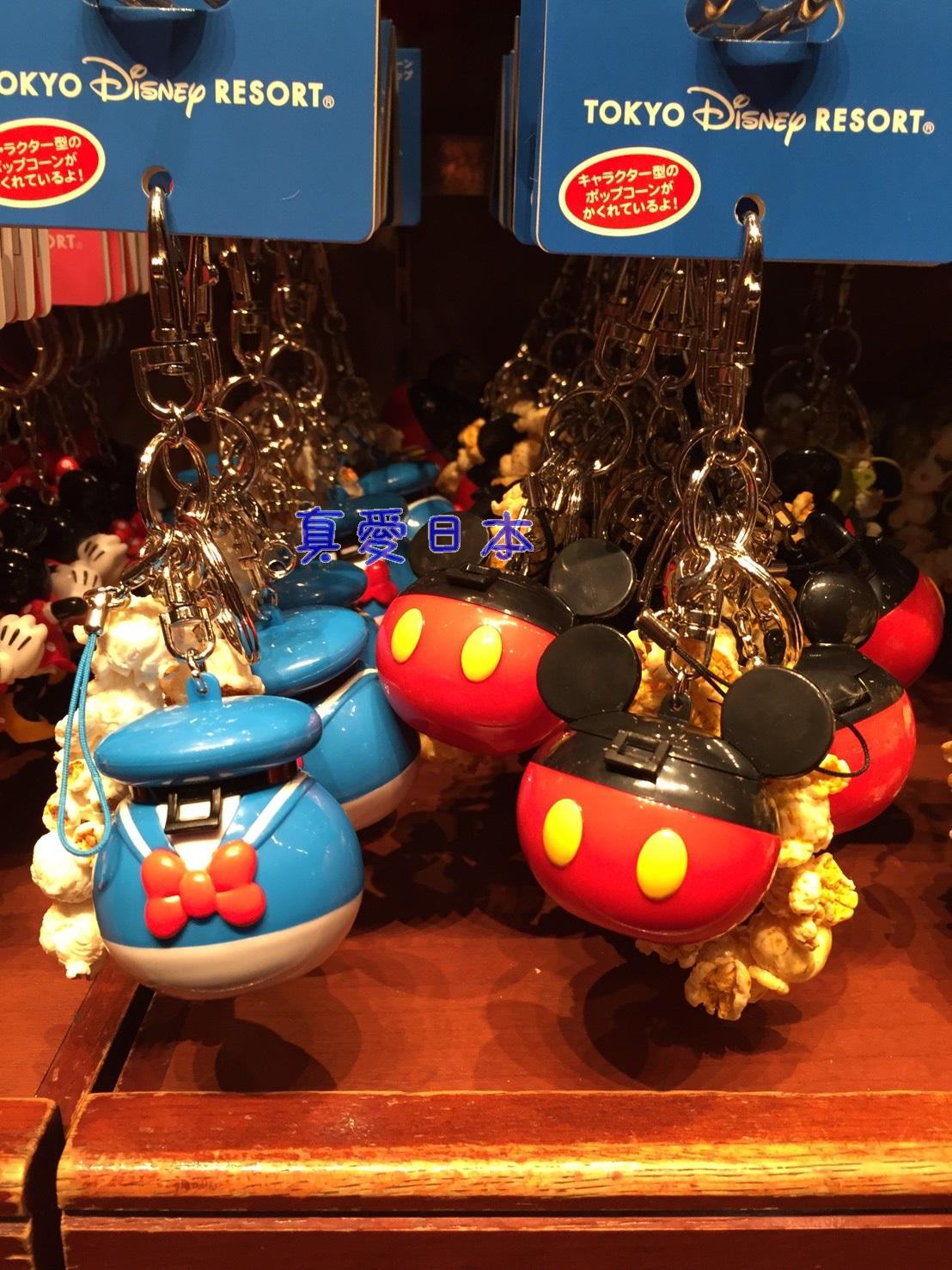 【真愛日本】14121900025 樂園限定鎖圈-爆米花筒米奇  迪士尼 米老鼠米奇 米妮 吊飾 飾品 鑰匙圈 正品 限量 預購