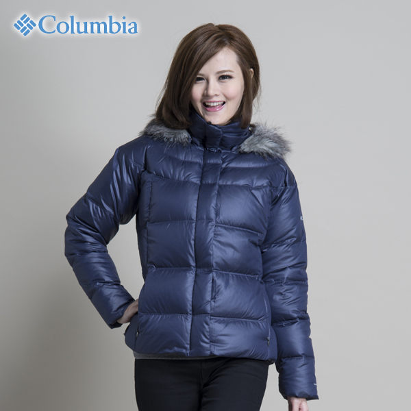 Columbia 女 防風│保暖│羽絨外套 WR5120『靛藍』