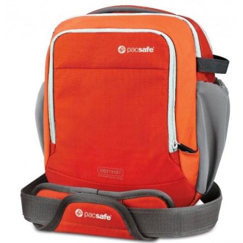 澳洲 PacSafe Camsafe Venture V8 相機防盜側背包 磚紅|肩背|相機包|旅遊 PD200