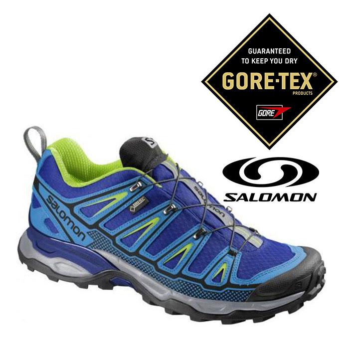 Salomon 男 Gore-Tex 防水登山健行鞋 X Ultra 2 GTX『甲基藍/綠』373313 登山鞋