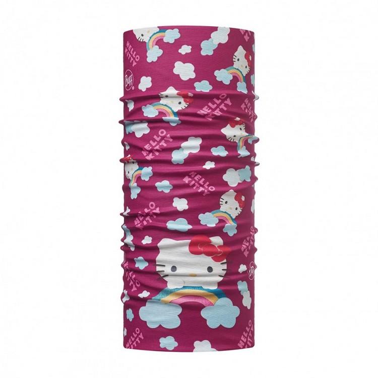 路跑/健行/滑雪 [ Buff ] HELLO KITTY Jr. 西班牙 窄版排汗魔術頭巾113202 莓紫彩虹