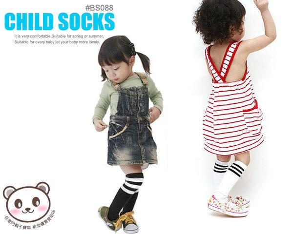 《任意門親子寶庫》男女童襪 襪子 直板襪 短襪 中筒襪【BS088】條紋高筒襪/長襪