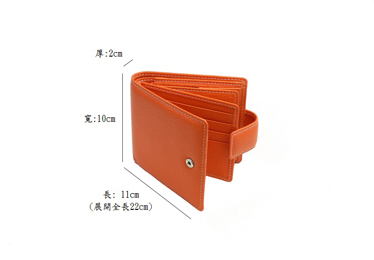 PLAGE 短夾-【尺寸】寬10cm・長11cm・厚2cm (展開全長22cm)