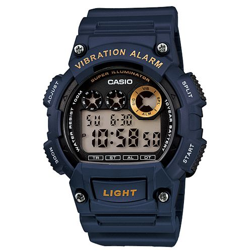 CASIO G-SHOCK W-735H-2A數位10年電力腕錶/藍47mm