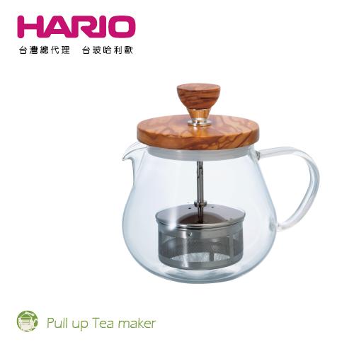 【HARIO】橄欖木茶王花茶壺450 / TEO-45-OV