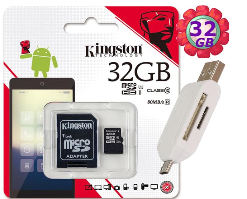 附T05 OTG 讀卡機 KINGSTON 32GB 32G 金士頓【80MB/s】microSDHC microSD SDHC micro SD UHS-I UHS U1 TF C10 Class1..
