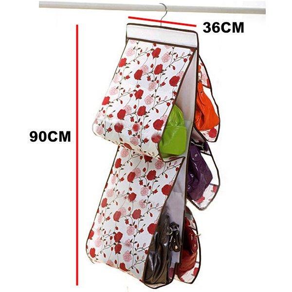 浪漫玫瑰 玫瑰花包包收納袋/ 五層包包整理袋/ 收納掛袋 收納包 掛袋 防塵袋 ☆真愛香水★