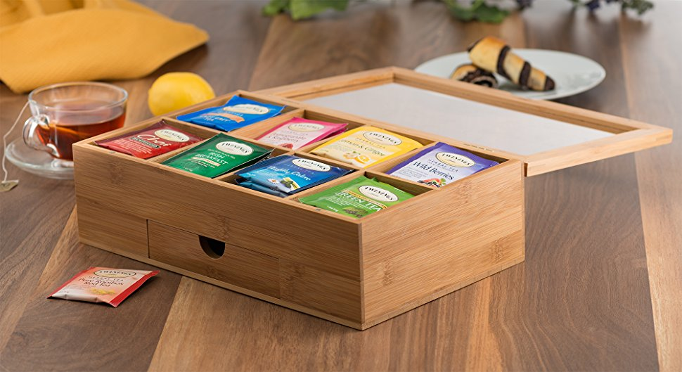 The Bambüsi Tea Storage Box Is A Practical Manner To Get Rid Of The Tea  Boxes Cluttering Of Your Kitchen Counter.