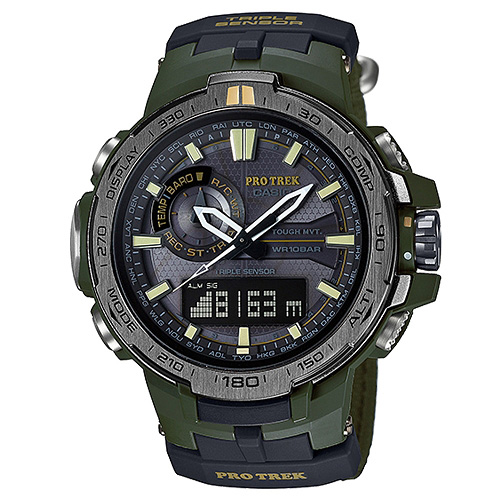CASIO PROTREK PRW-6000SG-3DR叢林登山雙顯電波腕錶/52mm