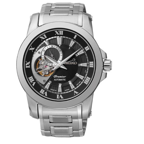 Seiko Premier 4R39-00L0D(SSA215J1)羅馬鏤空機械經典腕錶/黑面42mm