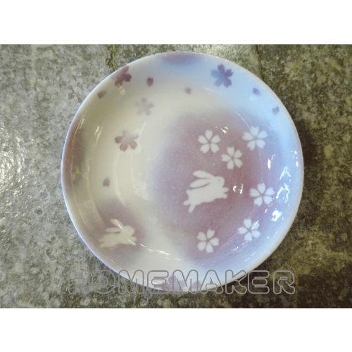 玉免陶瓷盤(紫)D16cm_JK-13658