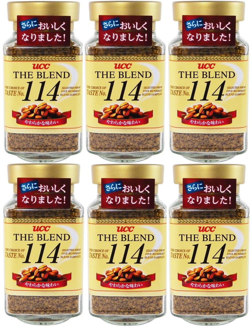 日本UCC 114精緻即溶咖啡(90gX6罐)