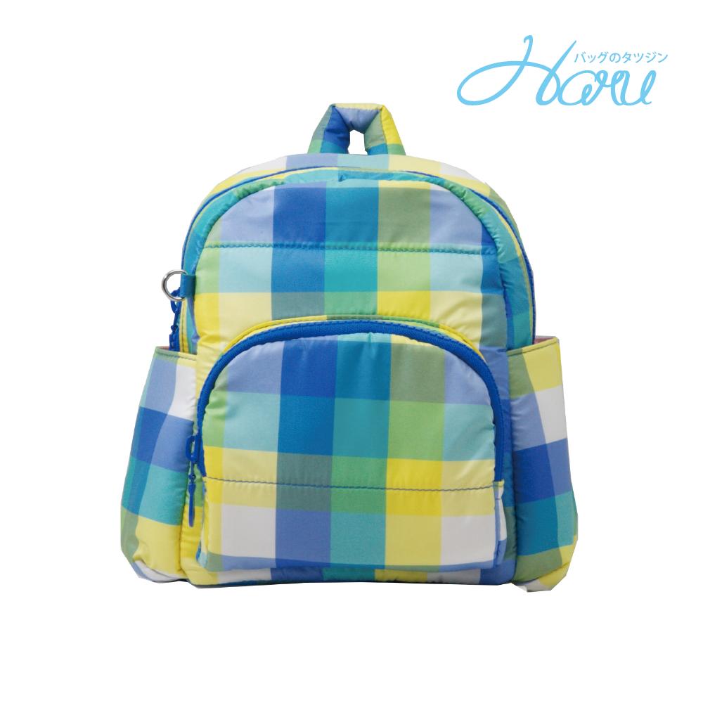 HARU 小晴天本舖媽媽包 日本布料 小童背包【糖果藍】
