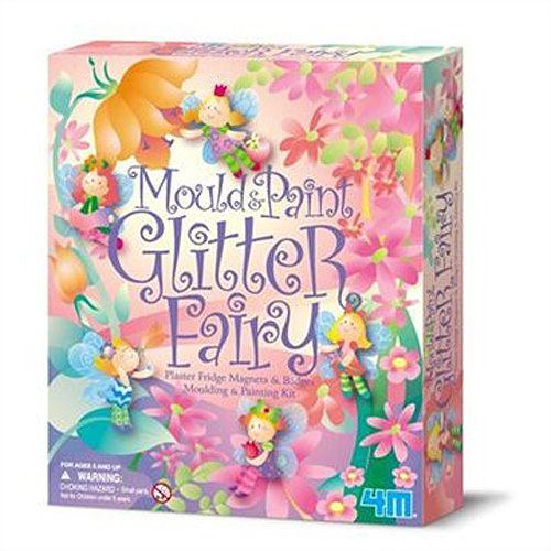 【4M 創意 DIY】Mould & Paint/ Glitter Fairy 燦爛小精靈 (磁鐵)