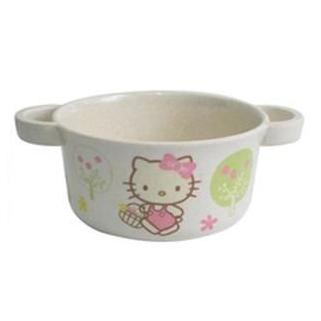 @小櫻桃嬰兒用品@Hello Kitty凱蒂貓--環保雙耳湯杯