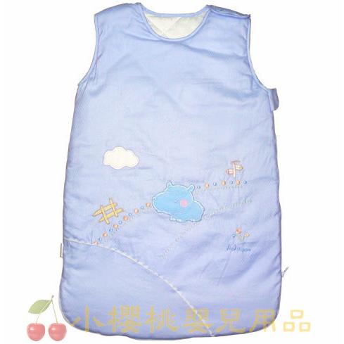 @小櫻桃嬰兒用品@AJ Hippo小河馬--加大型睡袍 四季可穿 藍色
