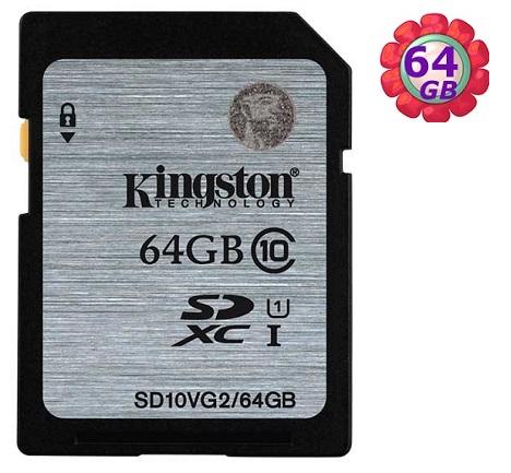 KINGSTON 64GB 64G 金士頓 SDXC【SD10VG2/64G】SD 80MB/s UHS-I UHS U1 原廠終保 相機記憶卡 記憶卡