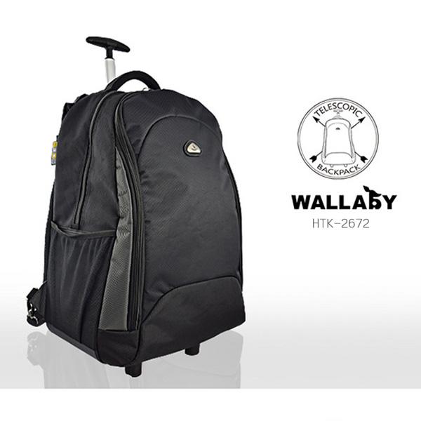 【加賀皮件】 WALLABY 小袋鼠 拉桿後背包 筆電包 20吋 多色可選 【HTK-2672】