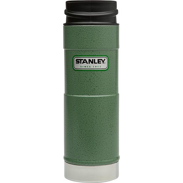 ├登山樂┤ 美國 Stanley 經典單手保溫咖啡杯 0.47L - 錘紋綠 #10-01394-GN