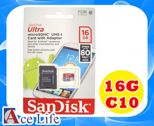 【九瑜科技】Sandisk 16G 16GB Class10 C10 micro SD SDHC TF UHS-1 80MB/s 記憶卡 手機 行車紀錄器 Kingston Toshiba