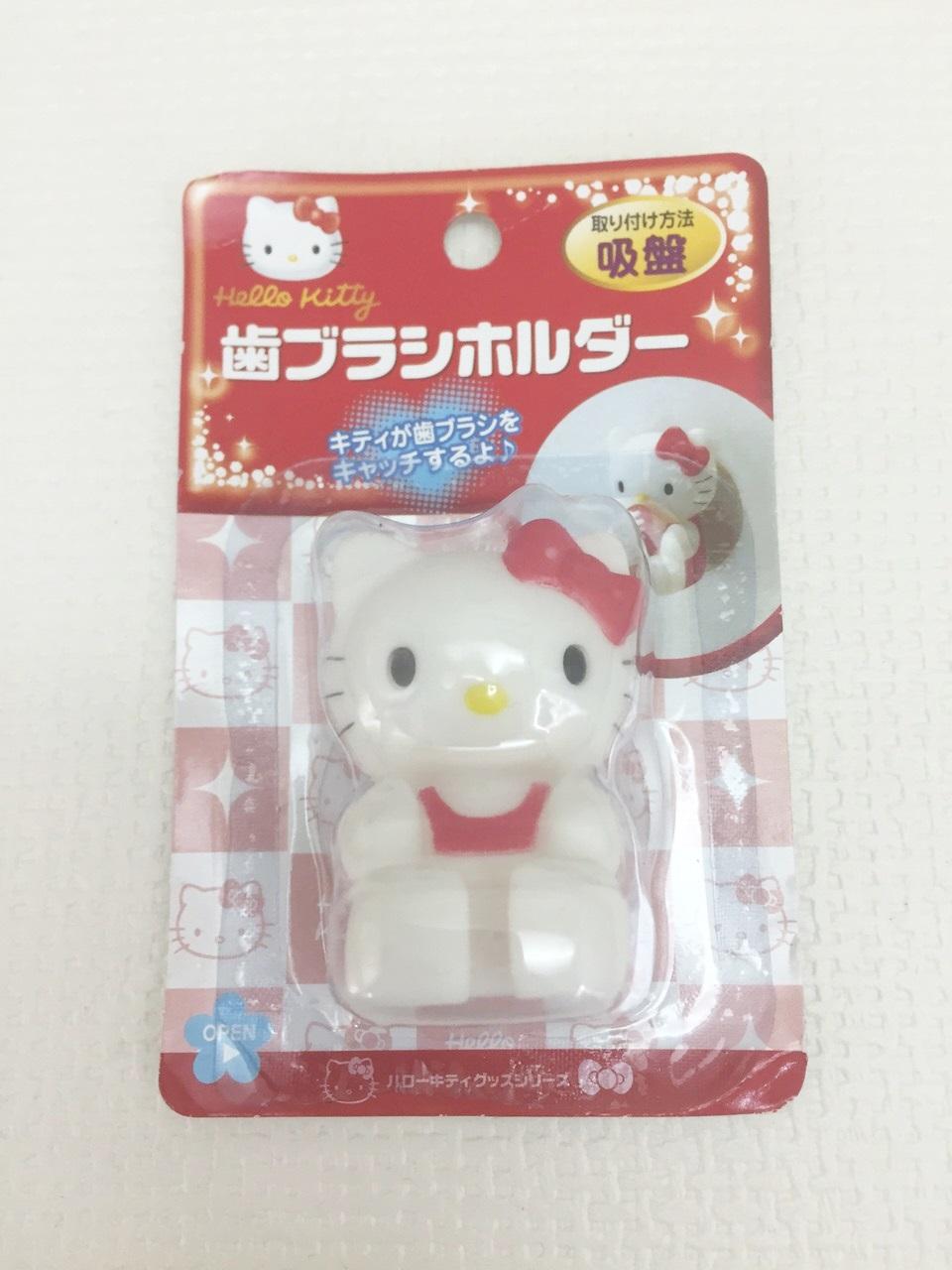 【真愛日本】15111400047 牙刷架-KT坐姿紅結 三麗鷗 Hello Kitty 凱蒂貓 牙刷架 清潔 居家用品