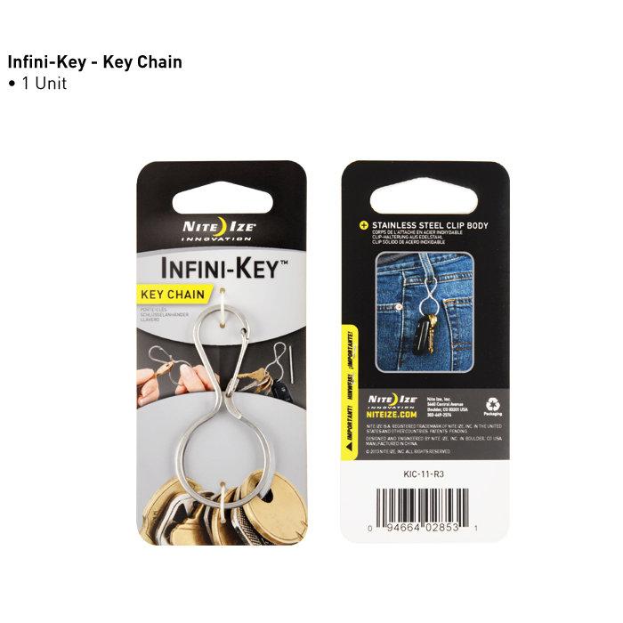 ├登山樂┤美國 NITE IZE KIC 葫蘆型帶鎖鑰匙扣 # KIC-11-R3(銀色不鏽鋼款)