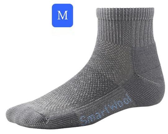 ├登山樂┤美國 Smartwool 女- Hike Ultra Light Mini Sock 美麗諾羊毛 輕薄短筒登山襪(灰/M) # SW452