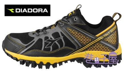 【巷子屋】義大利國寶鞋-DIADORA迪亞多納 男鞋抗水越野運動跑鞋 [8730] 灰黃 超值價$875