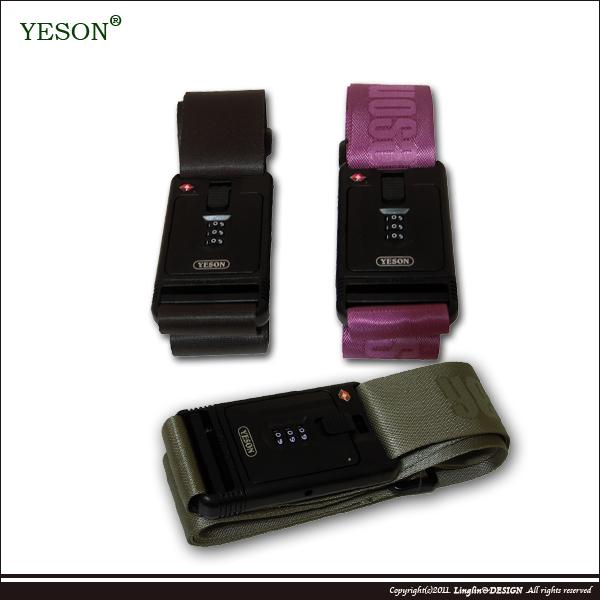 【YESON】歐美安檢通用TSA海關密碼鎖素面寬版束箱帶/旅行箱束帶913