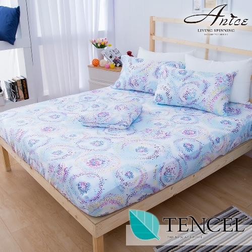 A-nice 100%全天絲床包枕套組-雙人(6007慶典)