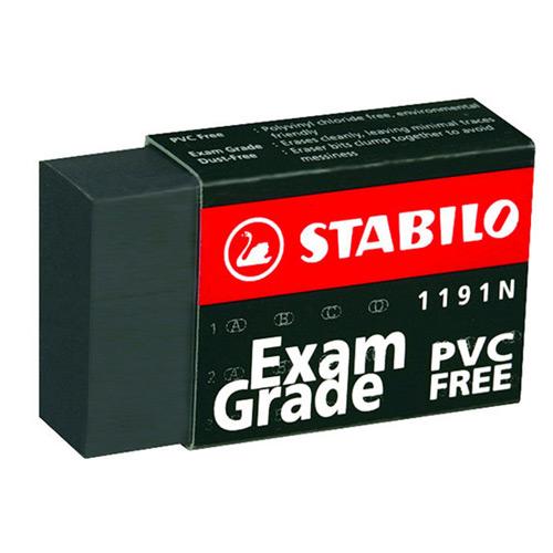 天鵝牌STABILO黑色環保橡皮擦1191N 小