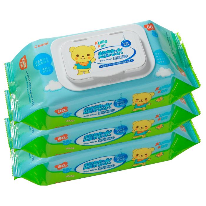 Combi康貝 - 超純水嬰兒柔濕巾80抽 3包/串