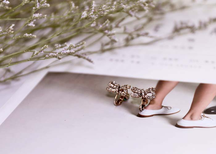 韓國飾品,夾式耳環,螺旋夾耳環,蝴蝶結造型耳環,古銅色耳環