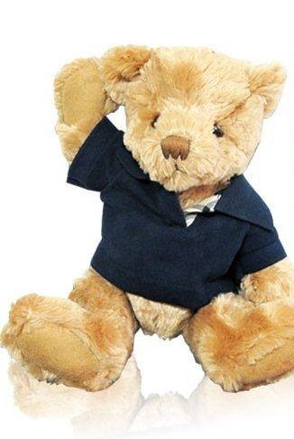 ?單品免運? BURBERRY 藍色POLO衫泰迪熊 ☆真愛香水★