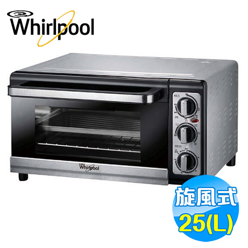 惠而浦 Whirlpool 25公升 不鏽鋼旋風烤箱 WTO250DB