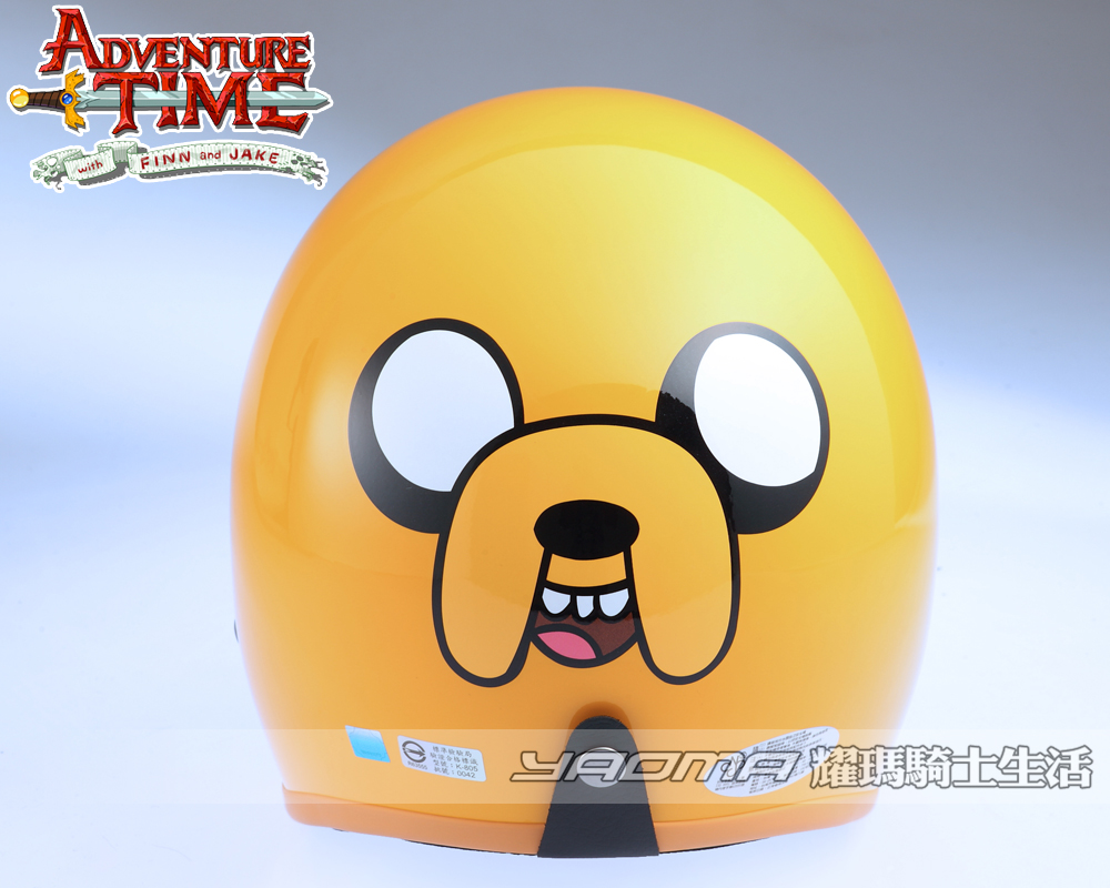 KK華泰安全帽 復古帽   Adventure Time【探險活寶】- 老皮 Finn and Jake 安全帽『耀瑪騎士生活機車部品』