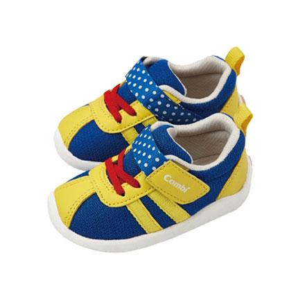 【悅兒樂婦幼用品?】Combi 康貝 銀河星辰幼兒機能鞋-水藍