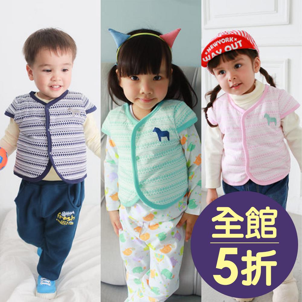 Augelute Baby 民族風小馬刺繡保暖鋪棉背心 47041