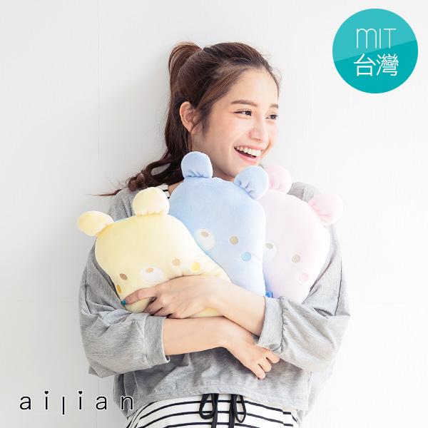 台灣製 婦幼用品 舒適純棉可愛熊熊嬰兒透氣枕【R69209】愛戀小媽咪