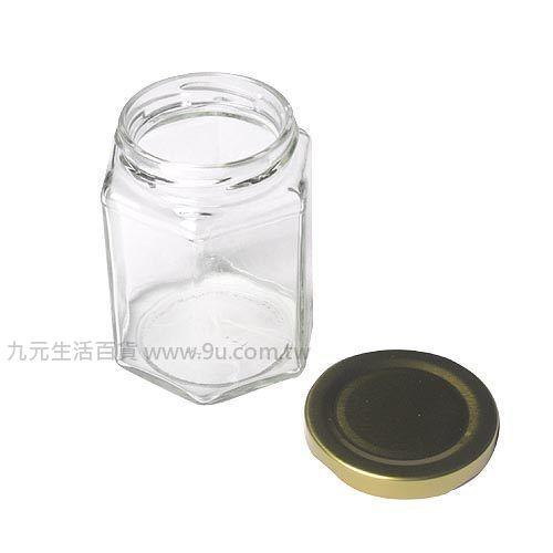【九元生活百貨】RP28 六角瓶-小 玻璃罐 果醬瓶