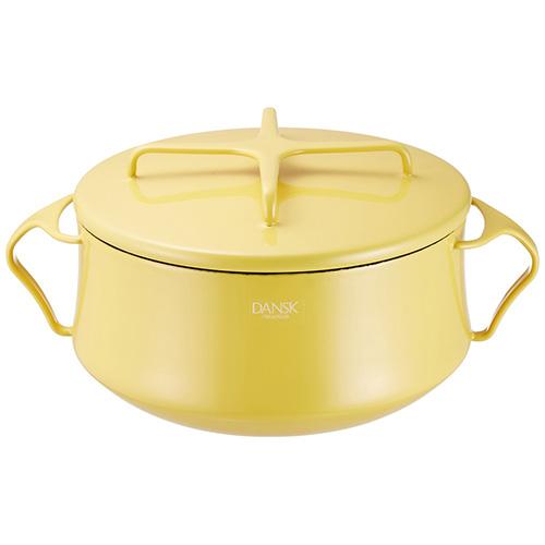 日本 DANSK 雙手柄琺瑯鍋 2200ml (黃色)