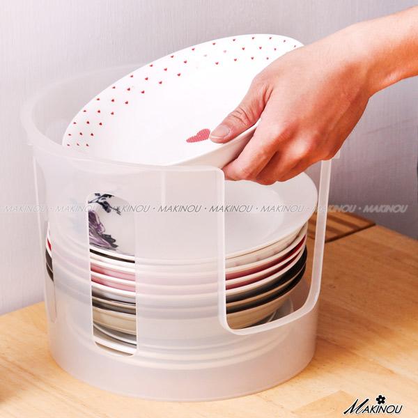 日本MAKINOU 瀝水架 小幫手碗盤輕鬆整理架-大-台灣製 廚房收納 餐具置物架 牧野丁丁